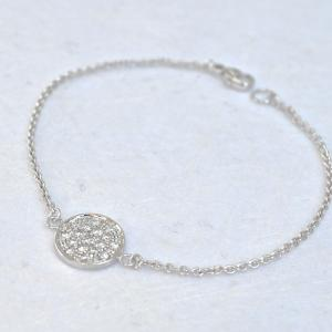 dainty white gold and diamond bracelet
