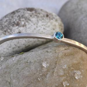 bangle with blue zircon